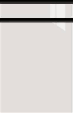 High-gloss Light Grey, Frame Black Matte