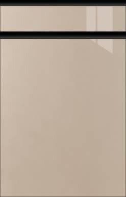 High-gloss Champagne-metallic, Frame Black Matte