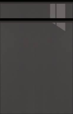 High-gloss Graphite-Metallic, Frame Black Matt