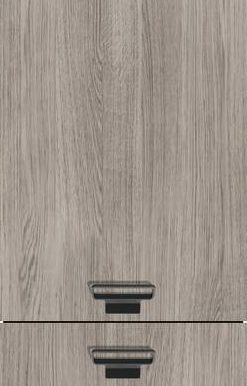 Oak Effect Cashmere Grey (End-grained Wood Edge), Vertical