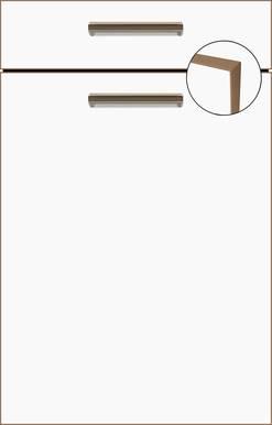 Ultra White Super Matt, Brass-effect Edging